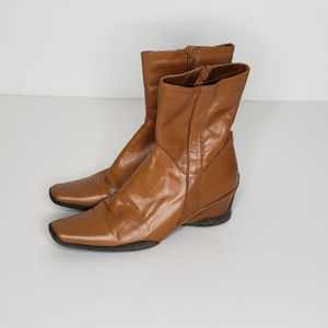 Chocolat Blu Leather Boots Booties